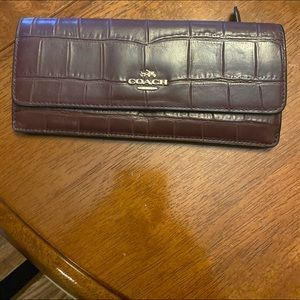 Coach high end leather wallet